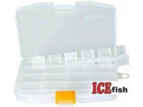 ICE Fish plastová krabička M - 14,5 x 10 x 2,5 cm