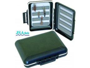 JSA Fish krabička na mušky 09 vodotěsná 125 x 100 x 30 mm