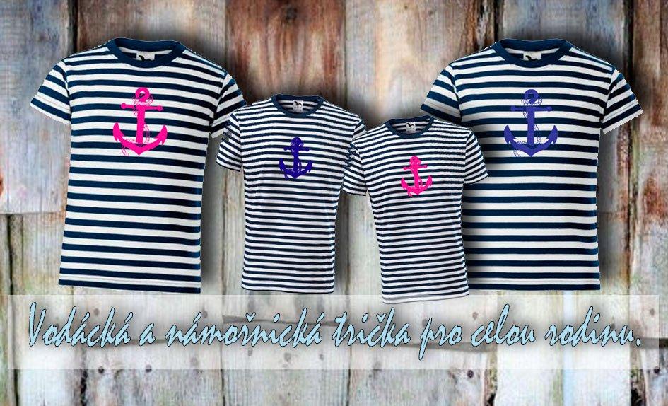 Námořnická  a vodácká trička pro celou rodinu