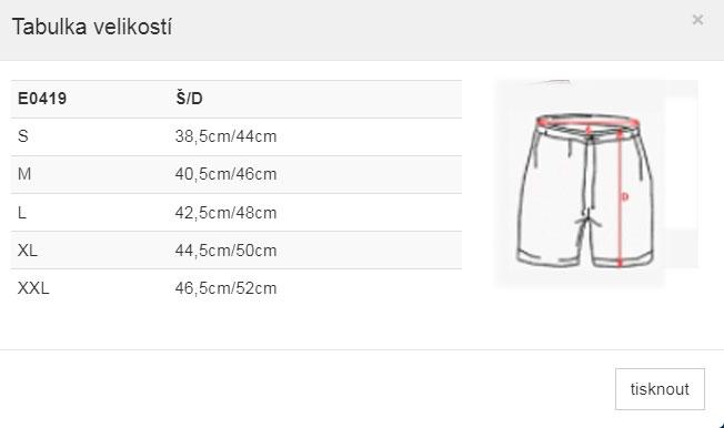 tabulka-velikostí-šortky-pánské