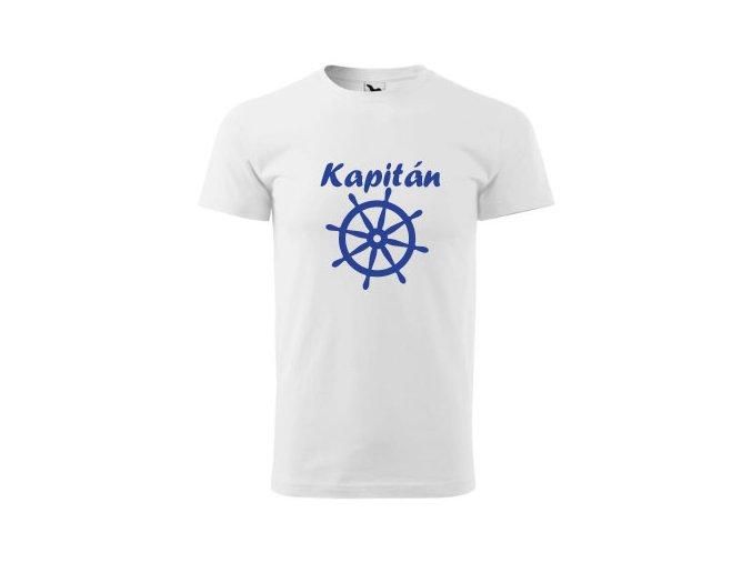 tričko bílé pánské kapitán
