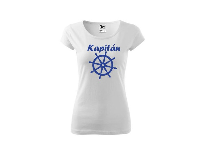 tričko bílé dámské kapitán