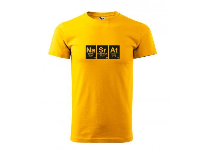 pánské tričko nasrat žluté