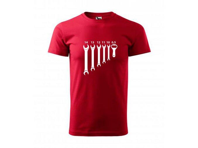 pánské triko s klíčema a otvírákem na pivo marlboro červená