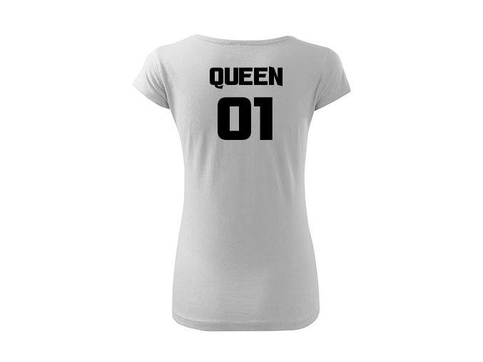 Gueen královna bílé triko d