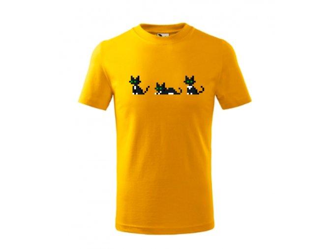 DĚTSKé tričko pixel kočky
