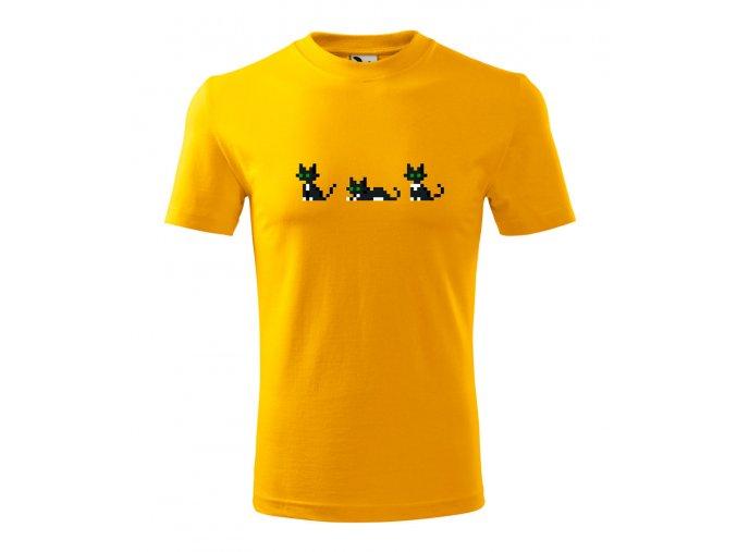 pánské tričko pixel kočky