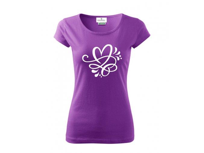 dámské tričkoornament2 fialová