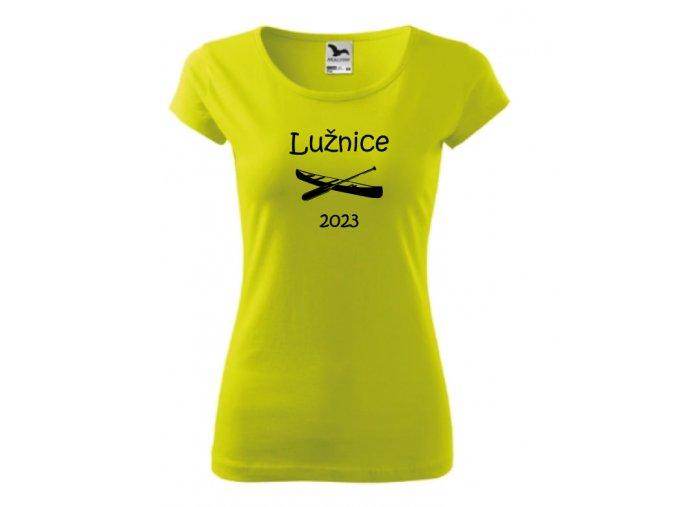 dámské tričko Lužnice královská modrá
