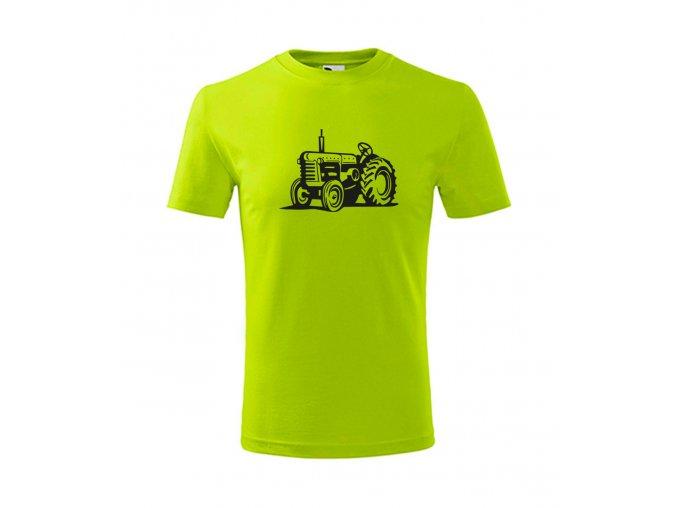 dětské traktor zetor tričko limetkové
