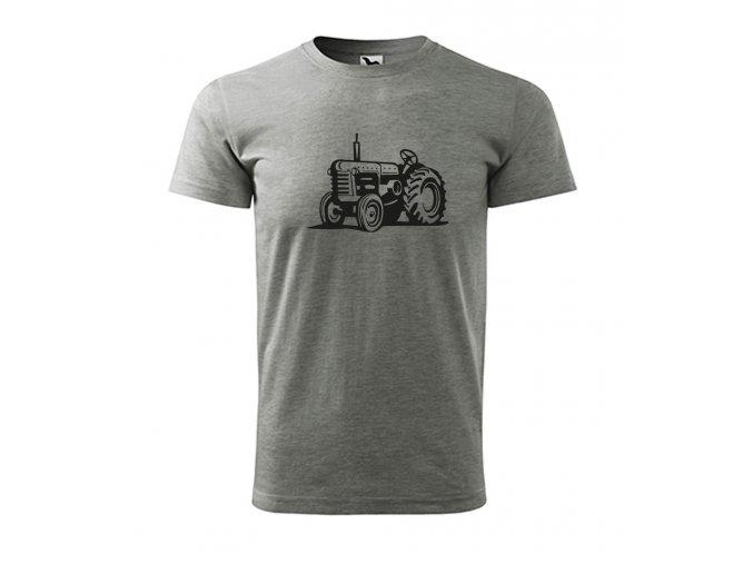 traktor zetor tričko šedé