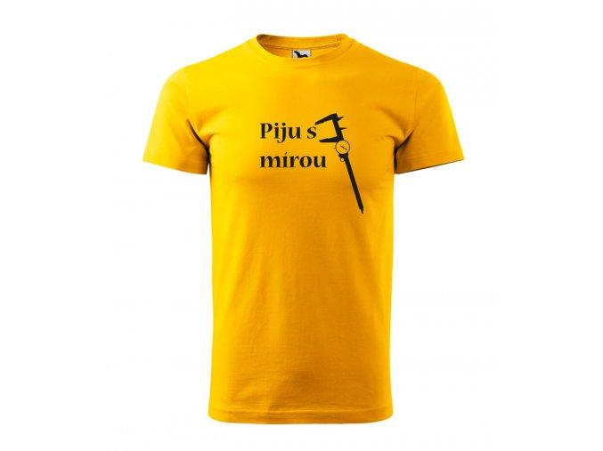 piju s mírou triko žluté