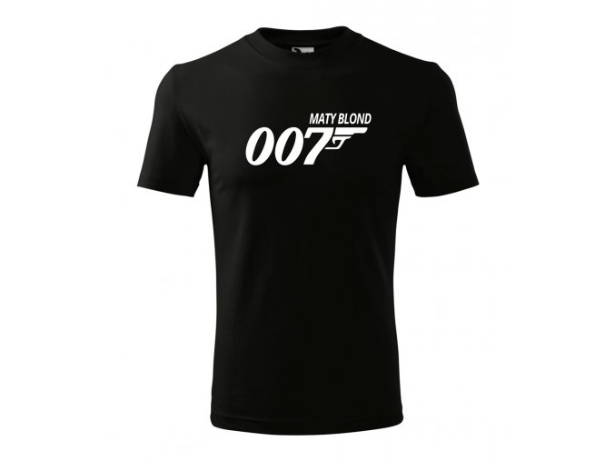 Tričko AGENT 007 - S VLASTNÍM JMÉNEM
