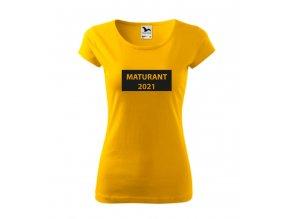 Tričko Maturant 2021 tabule - dámské