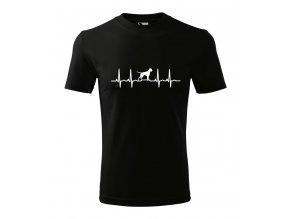 Tričko EKG s německým boxerem - pánské