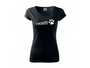 tričko s nápisem malinoa dámské černá