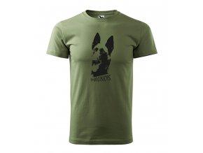 tričko alfik malinoa pánské khaki