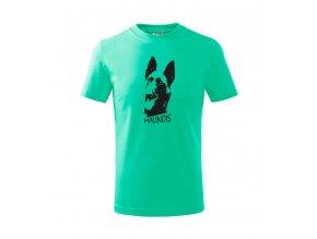 tričko alfik malinoa dětské mátové