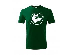 dětské rybářské triko štika v kruhulahvově zelené