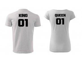 král a královna bílé