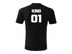 král king černé triko pánsk