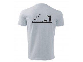 lovecké triko bílé záda lov kachen