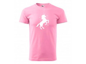 jednorožec dětské triko růžové