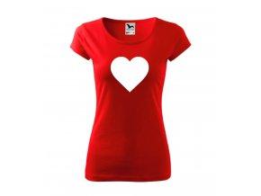 Dámské tričko se srdcem