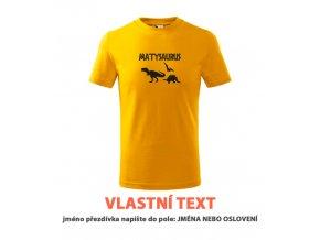 Dětské tričko dinosauři s vlastním textem
