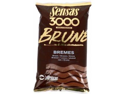Vnadící směs Sensas 3000 Brune Bream 1kg
