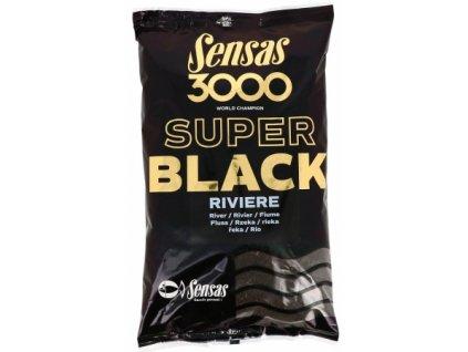 Vnadící směs Sensas Ready 3000 Super black Riviere 1kg