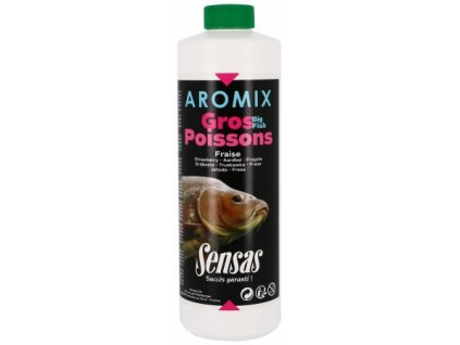 Posilovač tekutý Sensas Aromix Gros poissons-strawberry 500ml