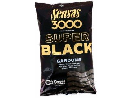 Vnadící směs Sensas Ready 3000 Super black Gardons 1kg