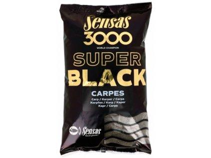Vnadící směs Sensas Ready 3000 Super black Carpes 1kg