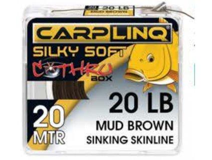 silky soft sinking skinline 20m 20lb moss green