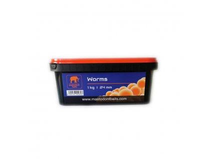 Boilies Mastodont baits Worms 24mm 1kg