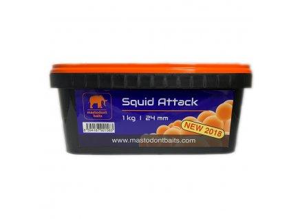 Boilies Mastodont baits Squid Attack 24mm 1kg
