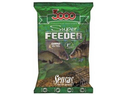 Vnadící směs Sensas 3000 Super feeder Carpes 1kg