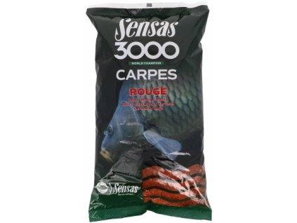 Vnadící směs Sensas 3000 Carpes Rogue-červený 1kg