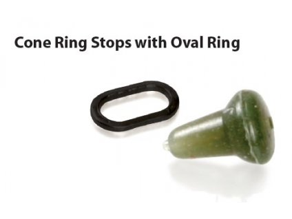 cone ring stops with oval ring tans brown