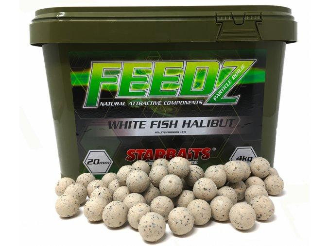 FEEDZ Boilies WHITE FISH PELLETS 20mm 4kg