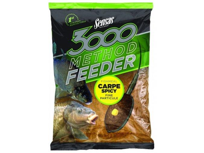 Krmení 3000 Method Carpe Spicy 1kg  + 10% sleva platná ihned po registraci pro všechny