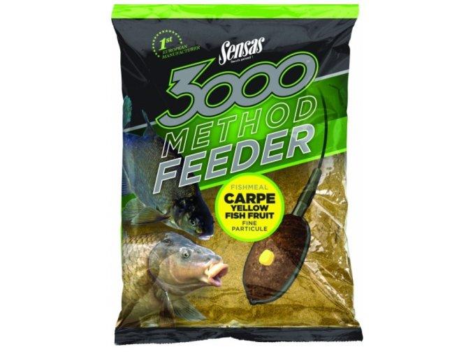 Krmení 3000 Method Carpe Yellow 1kg  + 10% sleva platná ihned po registraci pro všechny