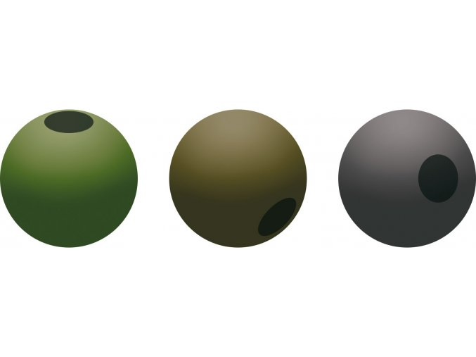 Gumový korálek průměr 6mm (30ks)  + 10% sleva platná ihned po registraci pro všechny