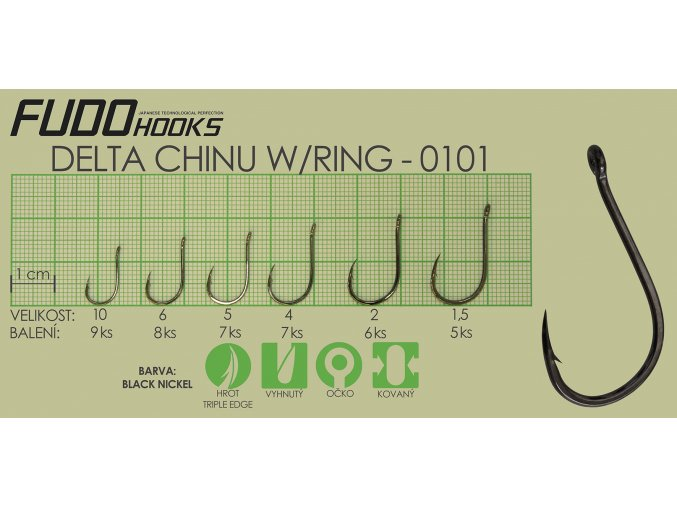 Fudo Delta Chinu Ringed 4 (bal.7ks)  + 10% sleva platná ihned po registraci pro všechny