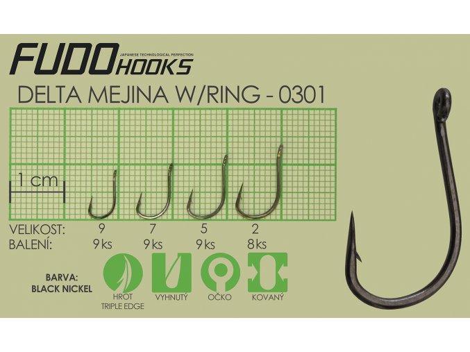 Fudo Delta Mejina Ringed 9 (bal.9ks)  + 10% sleva platná ihned po registraci pro všechny