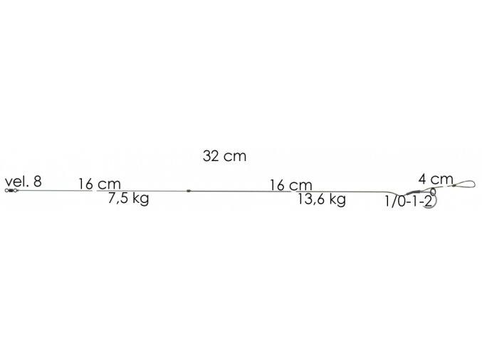 AKCE Boilie návazec Weed Phantom 32cm 11,4kg 1 (2ks)  + 10% sleva platná ihned po registraci pro všechny