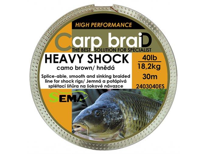Heavy Shock hnědá 40lbs 30m  + 10% sleva platná ihned po registraci pro všechny