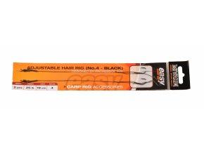Adjustable hair rig Easy vel.4 černý  + 10% sleva platná ihned po registraci pro všechny