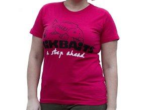 Mikbaits oblečení - Dámské tričko červené Ladies team M  + 10% sleva platná ihned po registraci pro všechny
